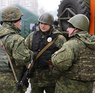 Militares ucranianos em Donbass, 5 de fevereiro de 2017