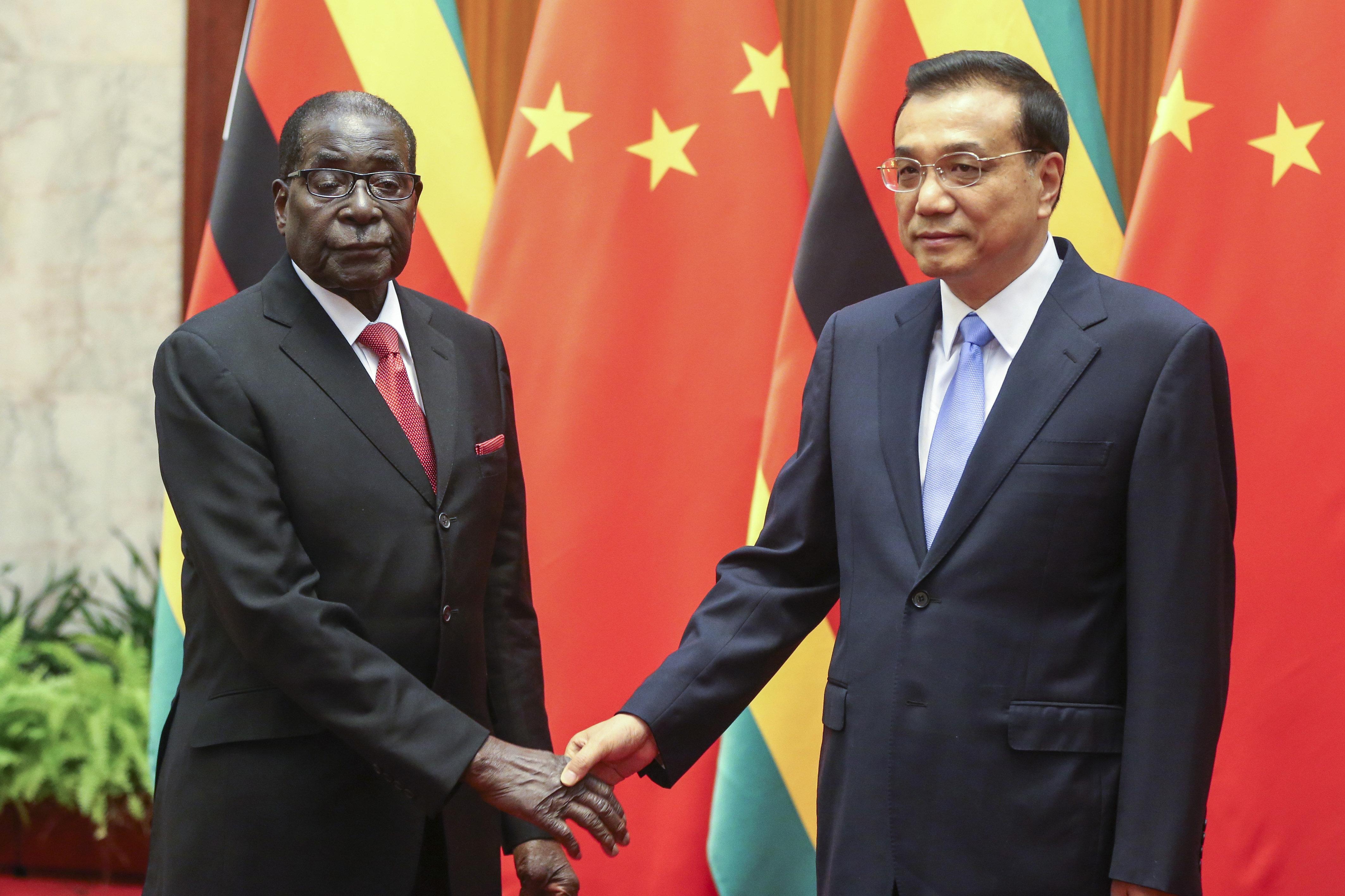 Robert Mugabe e Li Keqiang