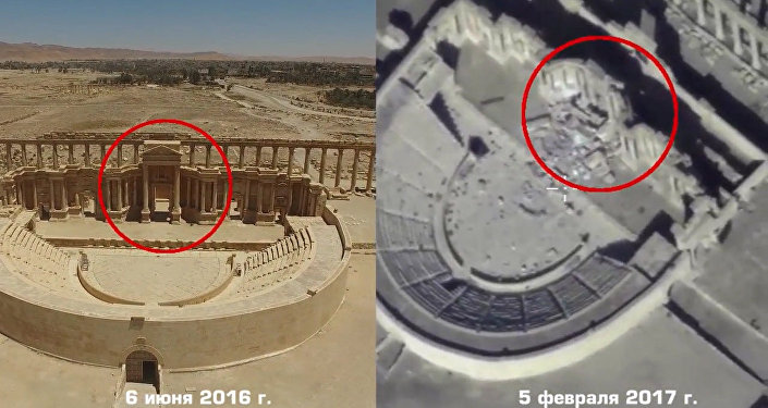 Evidência de destruição em Palmira