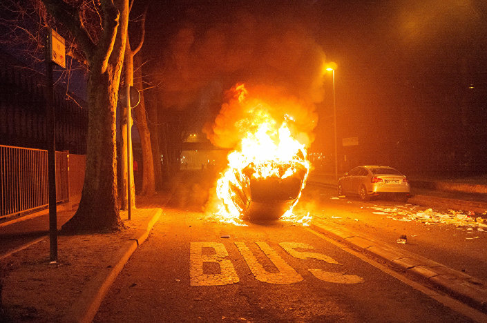 Protestos contra brutalidade policial na cidade de Bobigny, França