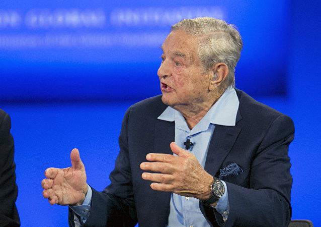 George Soros, presidente do Soros Fund Management, concede uma entrevista à CNN quanto à Iniciativa Global de Clintons, em Nova York, em 27 de setembro de 2015  (foto de arquivo)