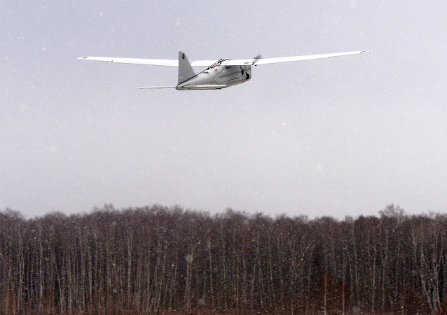Lançamento de drone Orlan-10