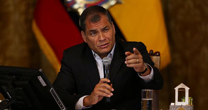 Rafael Correa, ex-presidente do Equador (arquivo)