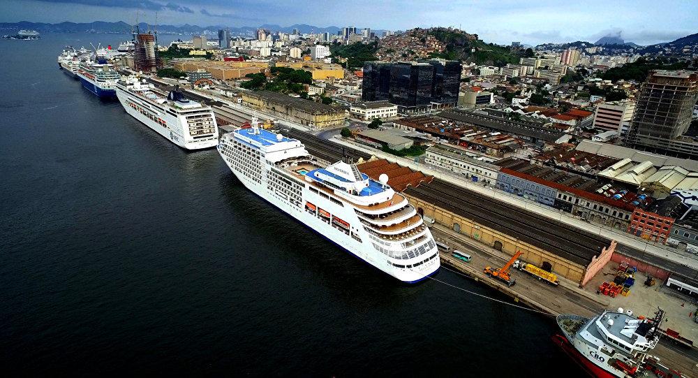 Porto do Rio de Janeiro, Brasil (arquivo)