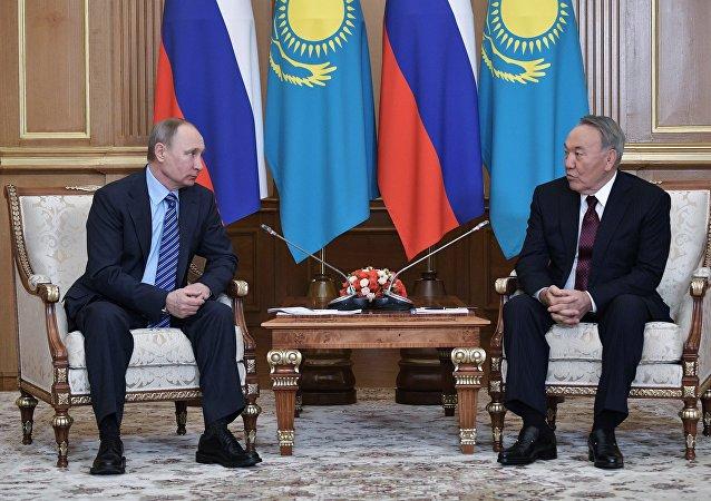Visita de trabalho do presidente russo Vladimir Putin ao Cazaquistão
