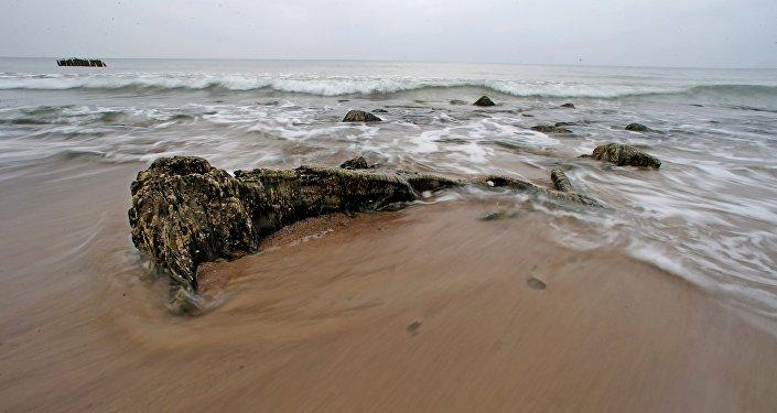 Uma paisagem do mar Báltico (foto de arquivo)