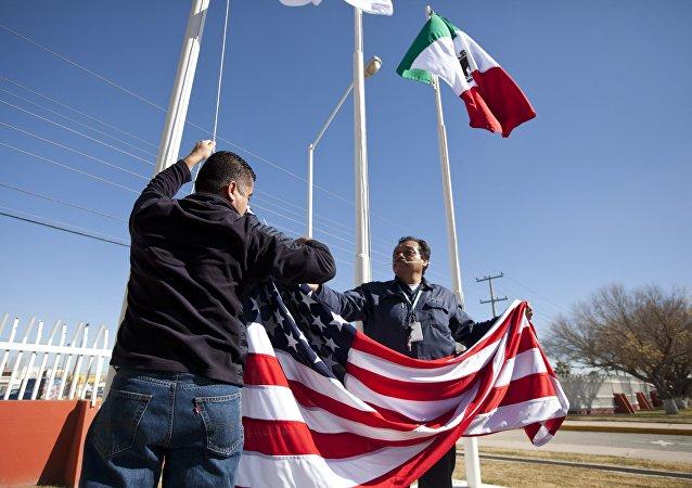 Bandeiras dos países-membros da NAFTA
