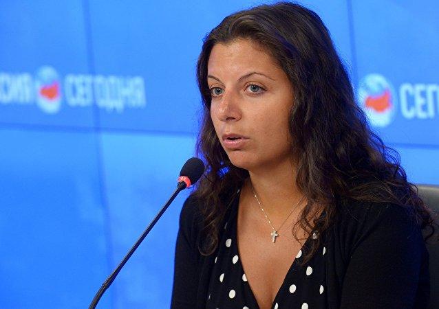 Margarita Simonyan, editora-chefe da Sputnik e canal RT