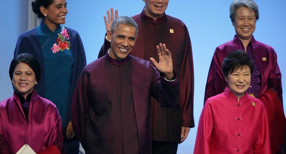 Presidente dos EUA Barack Obama na cúpula da APEC