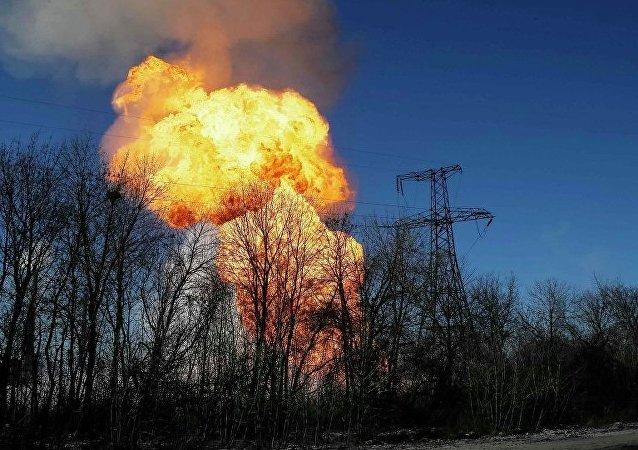 Explosão na Ucrânia (foto de arquivo)