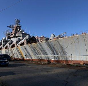 Cruzador de mísseis Ukrayina no Estaleiro Naval de Nikolaev, Ucrânia