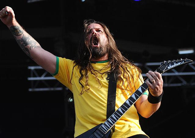 Guitarrista da banda brasileira de metal Andreas Kisser