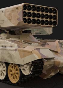Sistema de lança-chamas russo TOS-1A