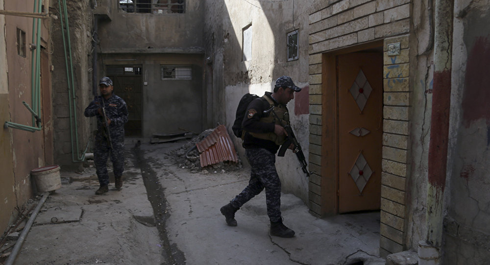 Polícia federal iraquiana em Mossul ocidental, 7 de março de 2017