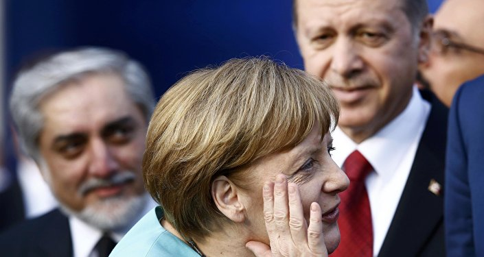 Angela Merkel e Recep Tayyip Erdogan