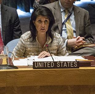 Representante permanente dos EUA na ONU Nikki Haley