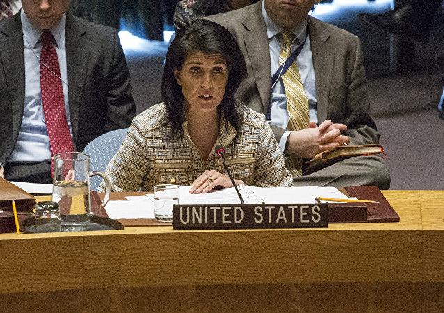 Representante permanente dos EUA na ONU, Nikki Haley