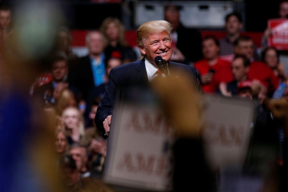Presidente Donald Trump discursa em Nashville, EUA