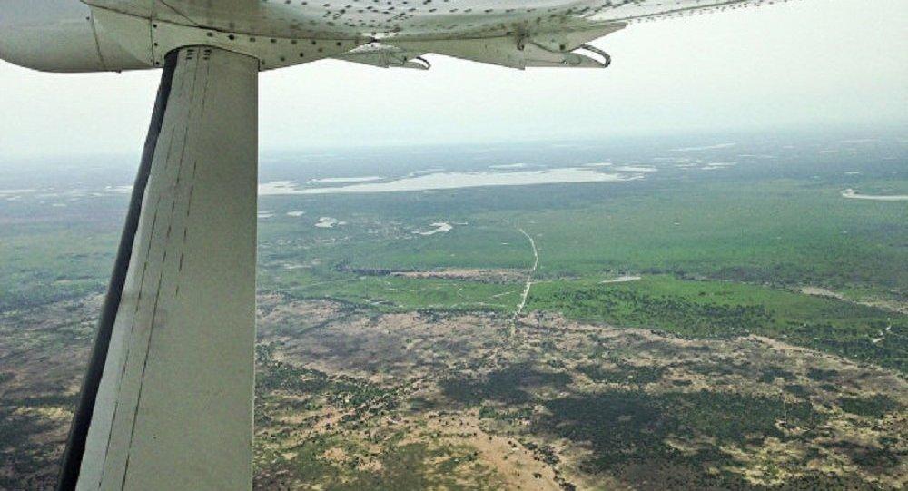 Vista de avião sobre o Sudão do Sul (foto de arquivo)