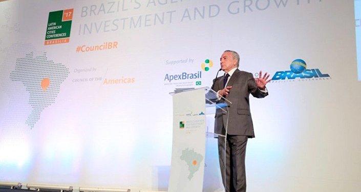 Temer em discurso na Conferência das Cidades Latino-Americanas 2017