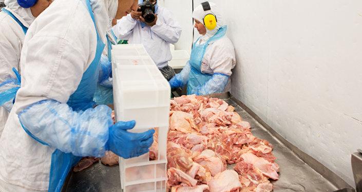 Inspeção de carne brasileira que foi efetuada pelo ministro da Agricultura do Brasil, Blairo Maggi, 21 de março de 2017