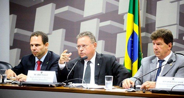 A convite das comissões do Senado, ministro Blairo Maggi defendeu qualidade da carne brasileira