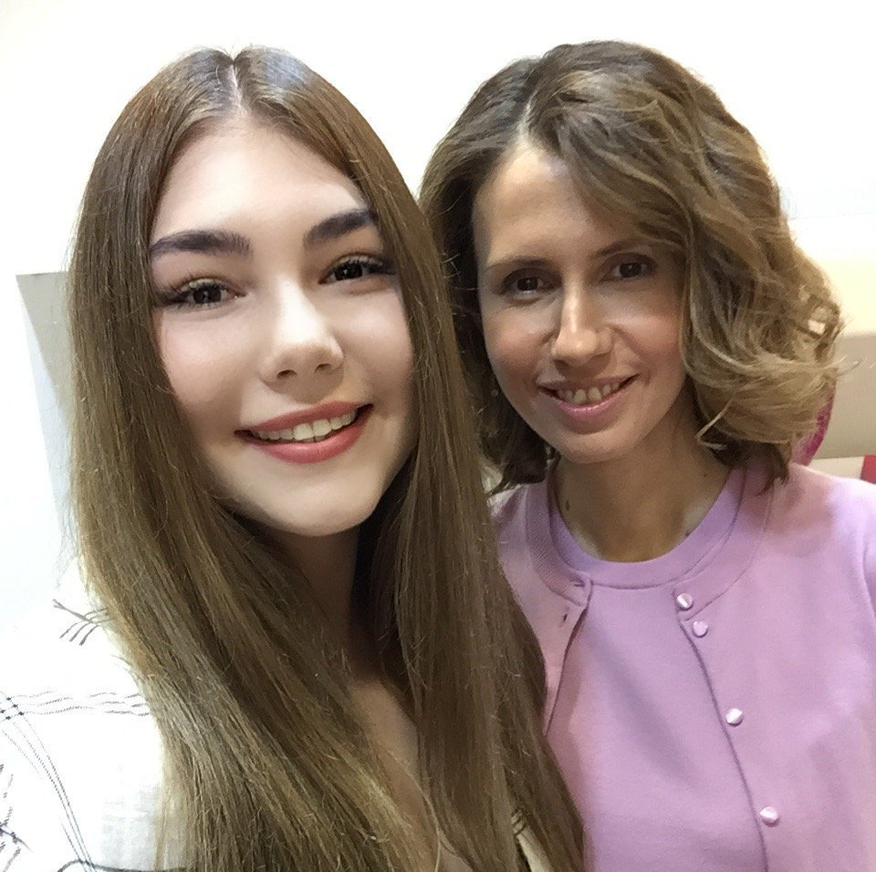 Durante sua estadia na Siria, Mariana foi recebida pela Primeira Dama da Síria, Asma Assad, em 12 de setembro de 2015