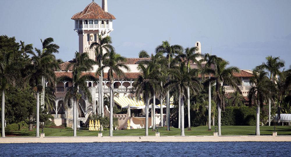 Esta foto, mostra o resort de Mar-a-Lago, uma das propriedades do presidente eleito Donald Trump em Palm Beach, Flórida.