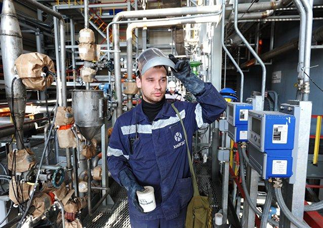 Produção de urânio natural na jazida do campo de minério Khiagdinskoe