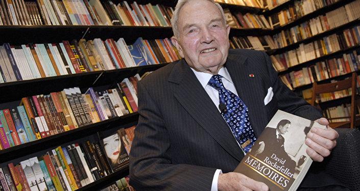 O bilionário David Rockefeller