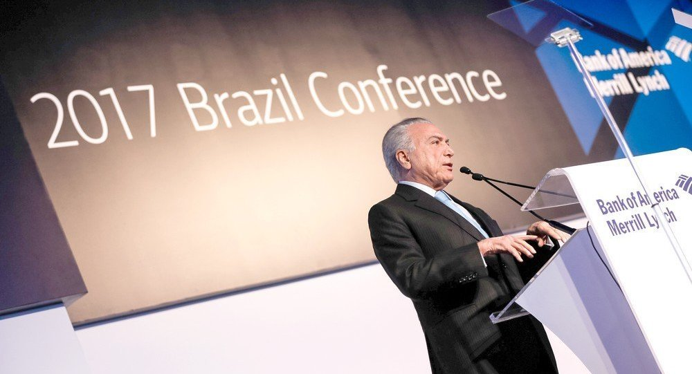 Discurso do presidente Michel Temer na abertura da 10ª Brazil Conference do Bank of America Merrill Lynch