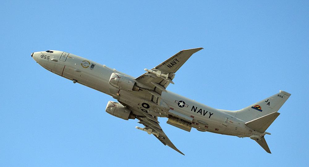 Aeronave da Marinha dos EUA, P-8A Poseidon, produzida pela Boeing