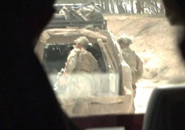 Militares dos EUA perto de Raqqa