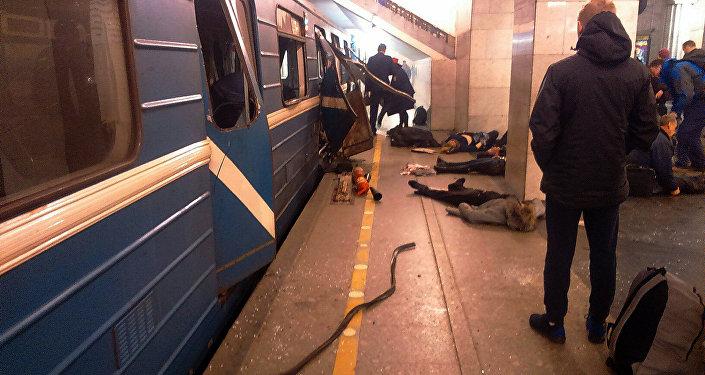 Consequências da explosão no metrô de São Petersburgo