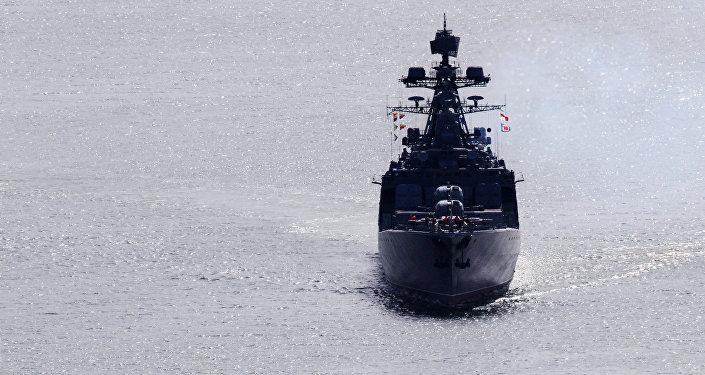 Destróier russo Admiral Vinogradov no Pacífico