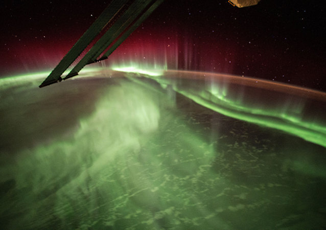 Foto de aurora boreal (foto de arquivo)