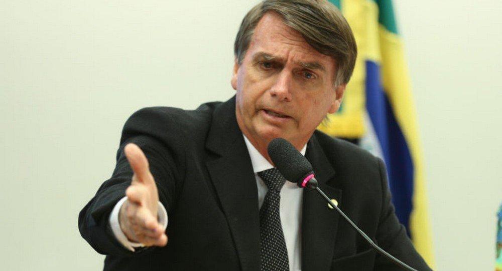 Deputado federal Jair Bolsonaro, candidato a presidente pelo PSL