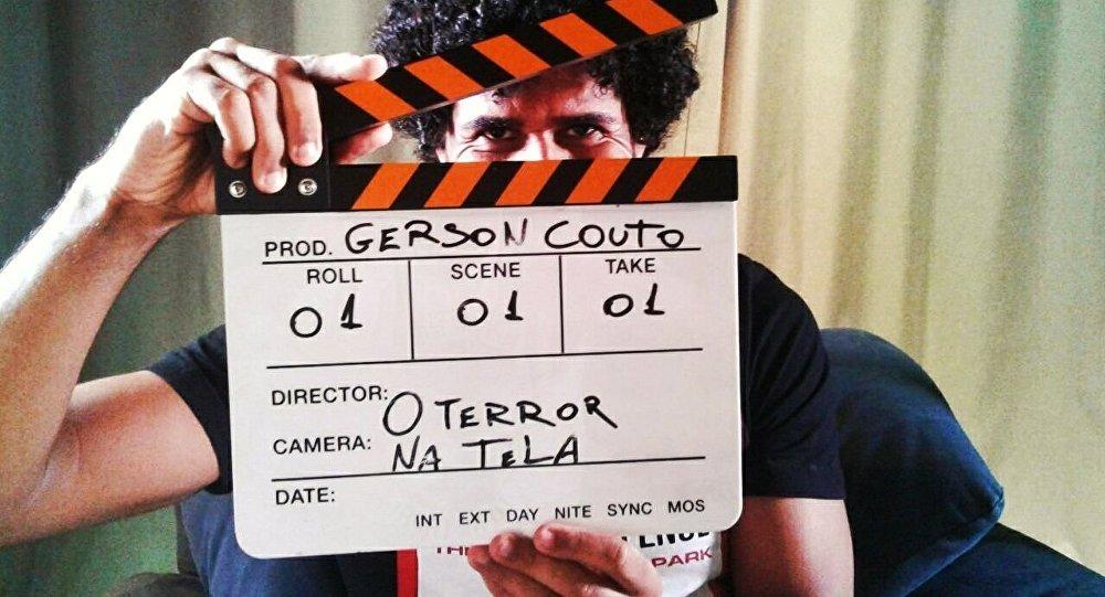 Gerson Couto durante as gravações para o Canal O Terror na Tela