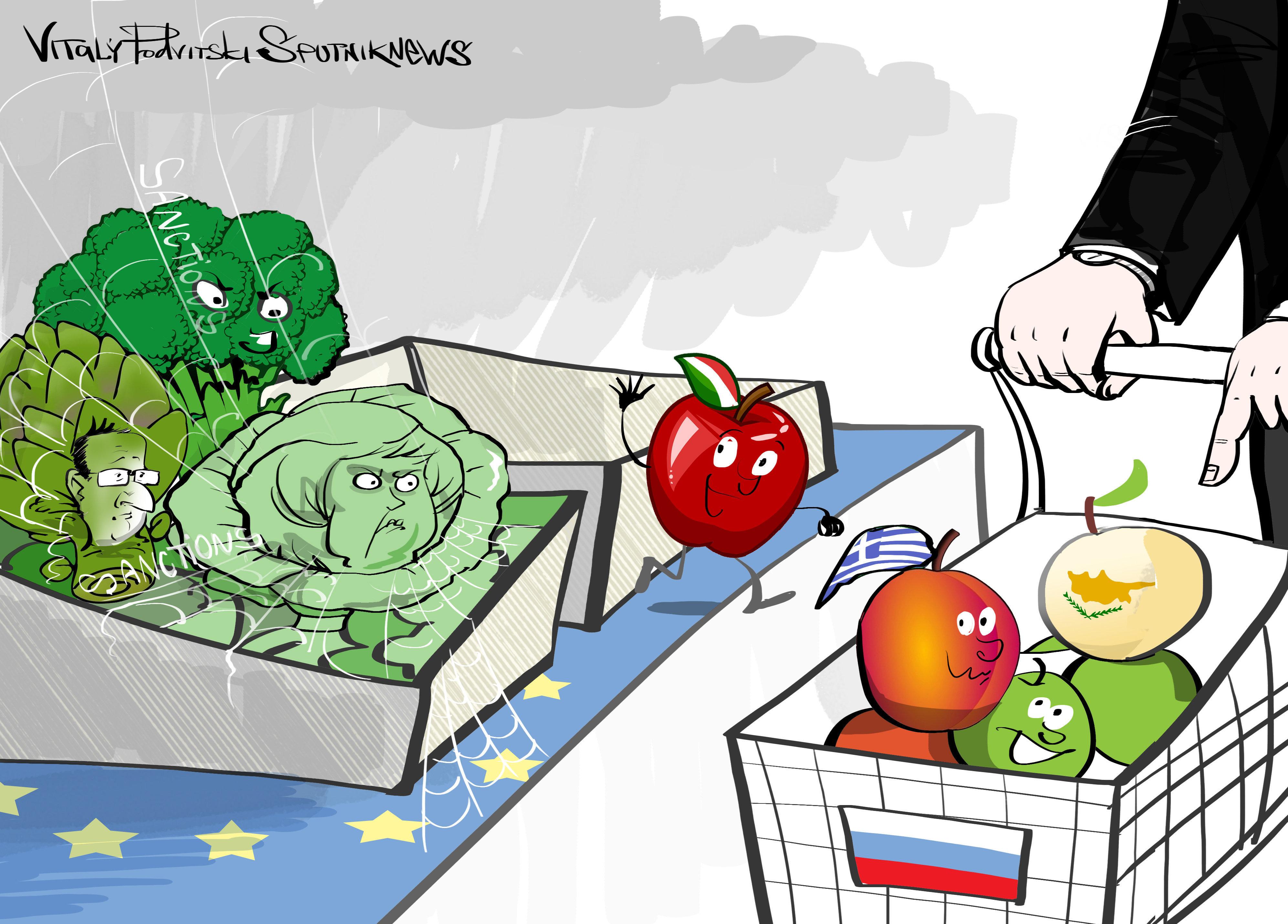 Rússia pode retomar importação de alimentos de alguns países da UE
