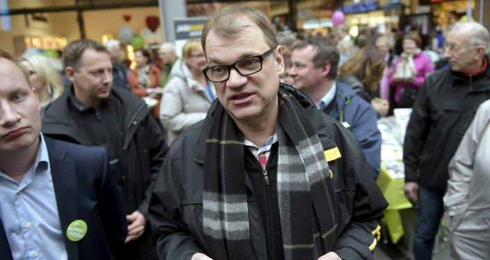 Juha Sipilä, líder do partido finlandês Centro