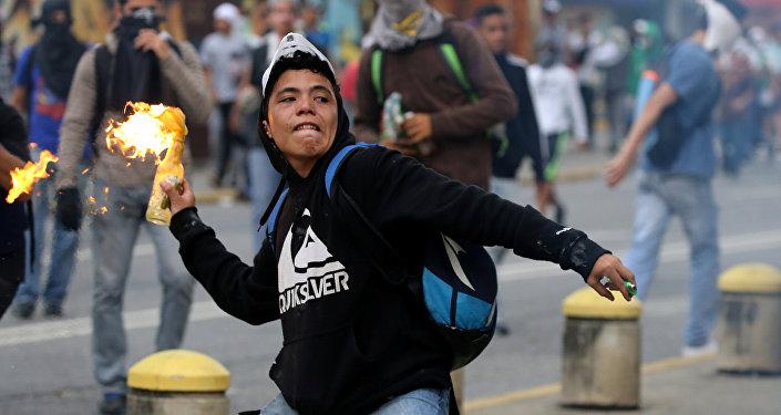 Manifestações em Caracas
