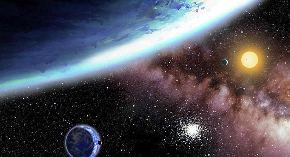 Planetas oceânicos Kepler-62e e Kepler 62f (imagem referencial)