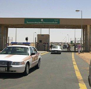 Posto de fronteira entre o Iêmen e a Arábia Saudita, na cidade de Al-Wadia, localizada na província saudita de Najran