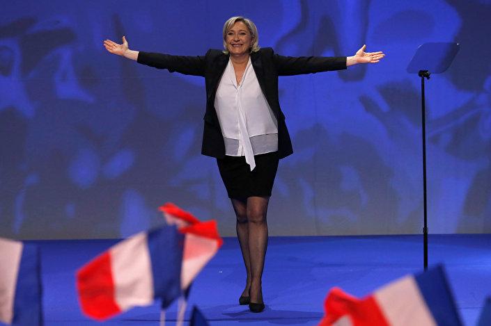 Candidata francesa pela Frente Nacional, Marine Le Pen