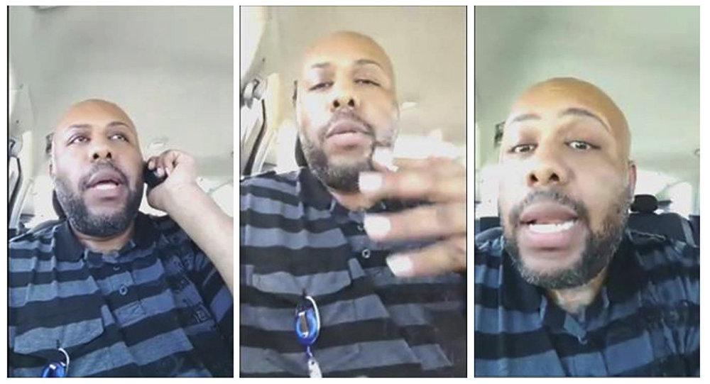 Frames de vídeo de Steve Stephens, o homem de Cleveland, Ohio, que filmou o assassinato que cometeu contra um homem de 74 anos, Robert Godwin, Sr.