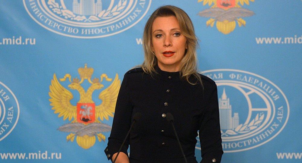 A porta-voz da Chancelaria russa, Maria Zakharova
