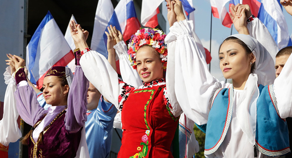 Celebrations of the Crimea National Flag Day in Simferopol