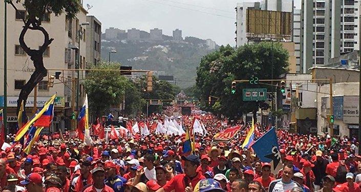 Partidários do presidente Nicolás Maduro, que enfrenta uma das piores crises da história da Venezuela