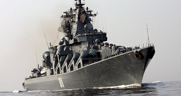 Cruzador russo de mísseis guiados Varyag da Frota do Pacífico