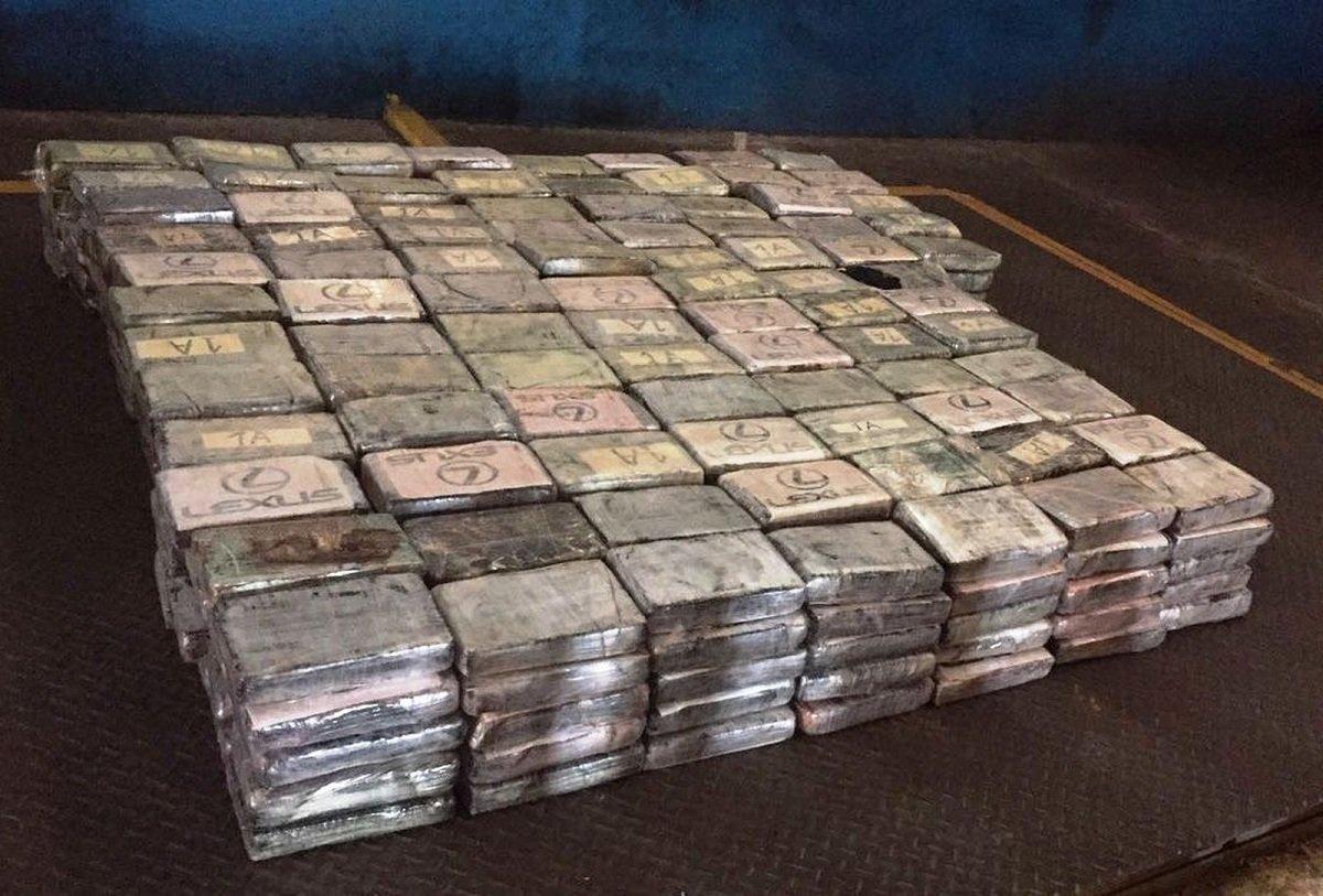 Carga de drogas apreendida em Santos e que se destinava à Europa